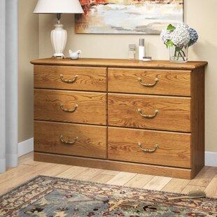 Charlton Home Oxford 6 Drawer Double Dresser