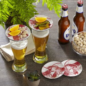 Lobster Wellfleet Glass Topper Plates (Set of 4)