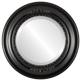 Charlton Home Wisbech Framed Round Accent Mirror