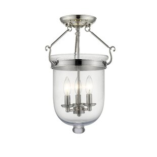 Lauder 3-Light Semi Flush Mount by Darby Home Co