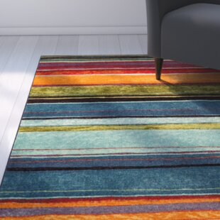 Bartlett Las Cazuela Blue Orange Area Rug