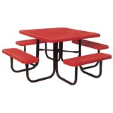Char Log Picnic Table