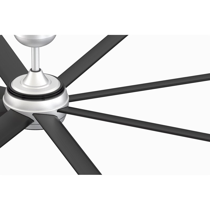 Fanimation 96 Stellar Outdoor Led Standard Ceiling Fan With Remote Control And Light Kit Included