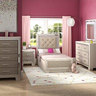 Charming Domenick Platform 5 Piece Wood Bedroom Set