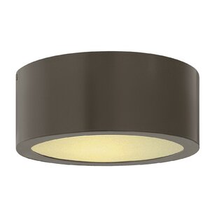 Reviews Adele 1-Light Outdoor Flush Mount By Wade Logan