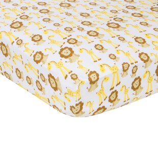 Giraffes and Lions Flat Crib Sheet ByMiracle Blanket