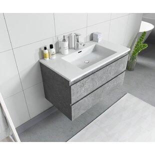 Trente 90mm Wall Hung Single Vanity Unit By Ebern Designs