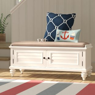 Harrison Wood Storage Bench by Beachcrest Home