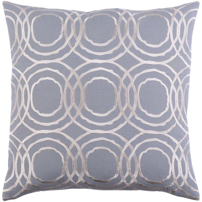 Alcott Hill Meader Linen Geometric Square Pillow Cover Reviews Wayfair