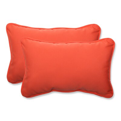 Canvas Outdoor Sunbrella Lumbar Pillow Fabric: Melon