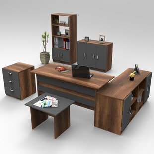 Sanibel 6-Piece Standard Desk Office Suite By Ebern Designs