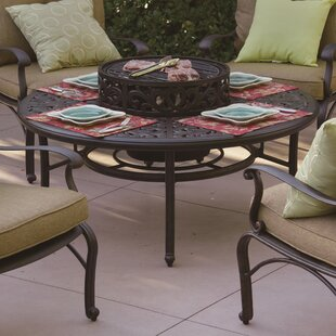 Berenice Aluminum Wood Burning Fire Pit Table