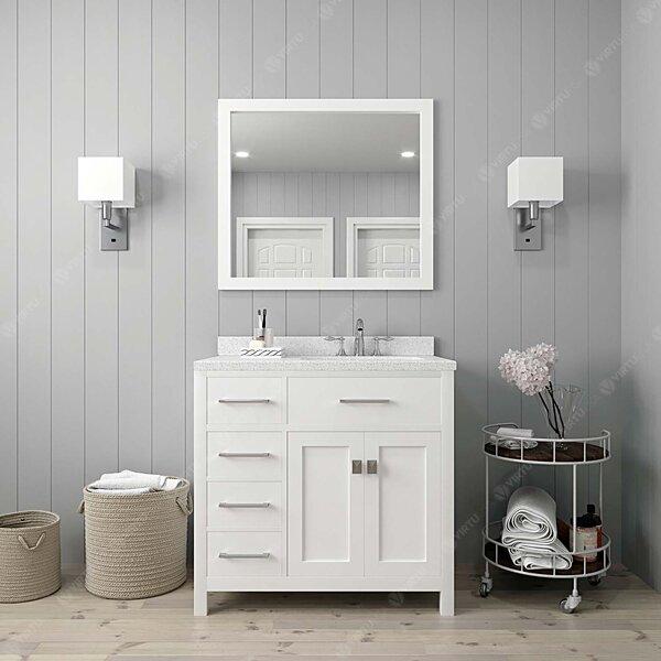 Winston Porter Slagelse 36 Single Bathroom Vanity Set With Mirror Wayfair