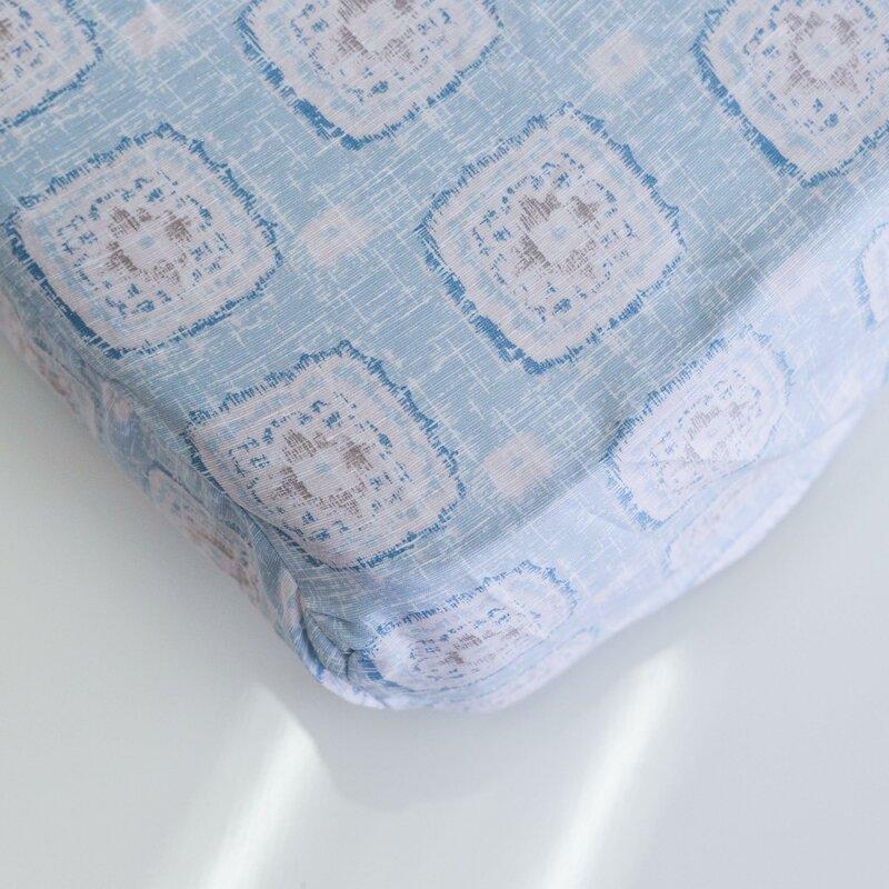 Bungalow Rose Jolynn Floral 100 Cotton Fitted Sheet Wayfair