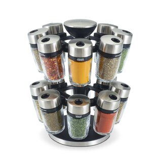 16 Jar Spice Jar & Rack Set (Set of 16)