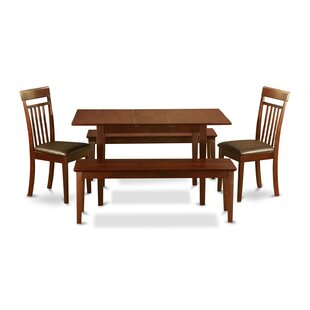 Phoenixville 5 Piece Extendable Dining Set by Three Posts