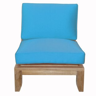 Luxe Teak Center Patio Chair with Sunbrella Cushions