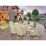 Toscano Outside Patio 7 Piece Dining Set with Cushions