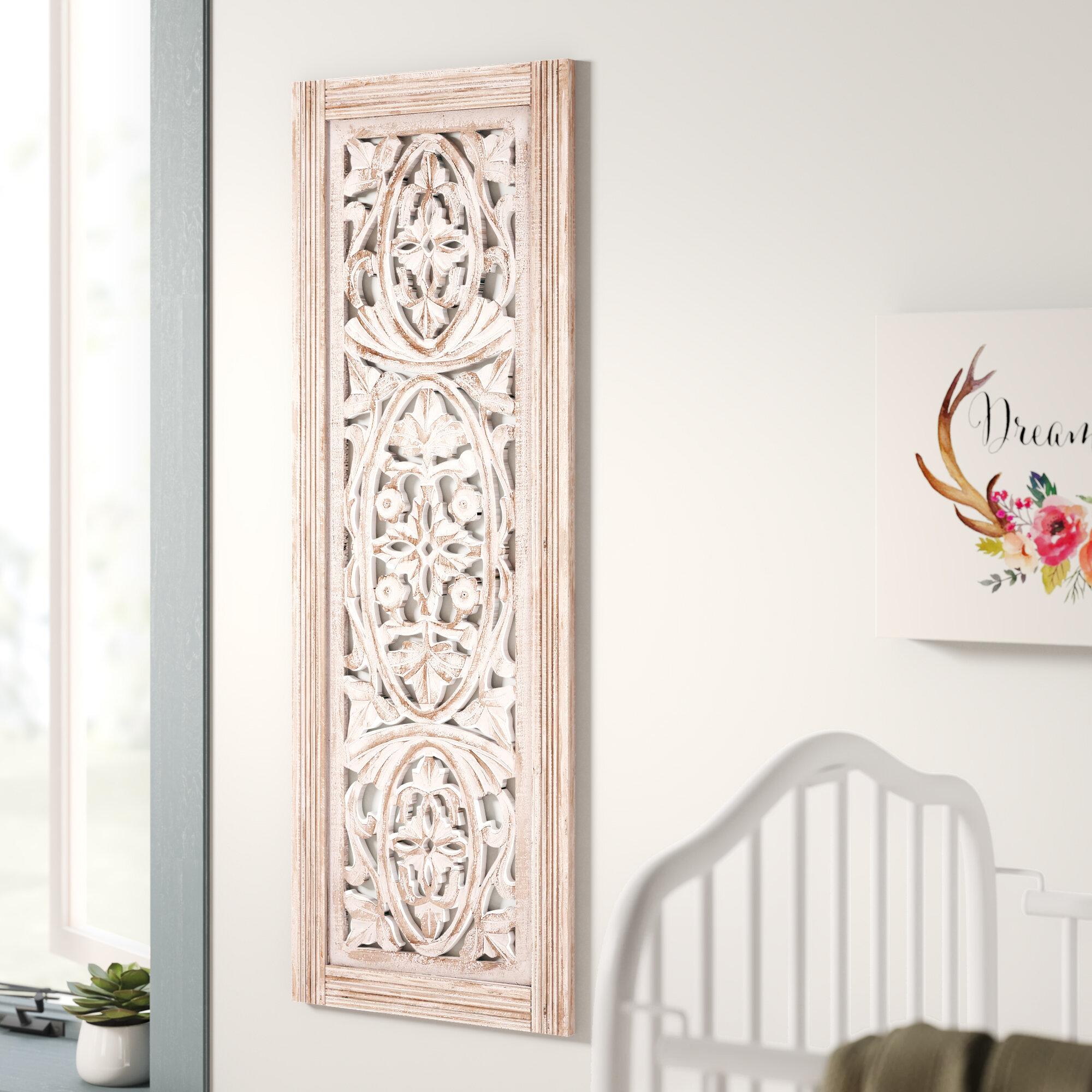 Mistana Beige Distressed Wood Wall