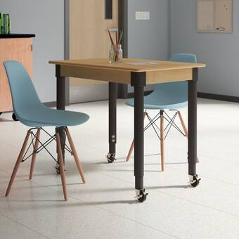 Factory Direct Partners Maple Contour Thermo Fused Adjustable 24 X 48 Rectangular Activity Table Wayfair
