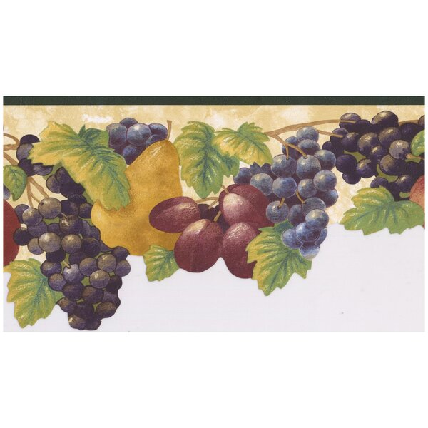 Kitchen Wall Paper Grapes Wine Wayfair