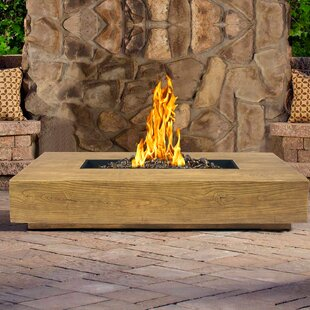 Armen Living Ember Stainless Steel Propane Gas Fire Pit Table