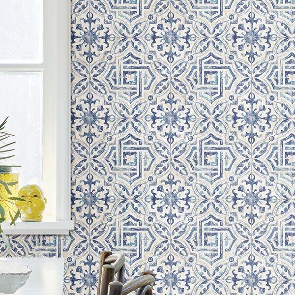 Alexis Spanish Tile 33 L X 20 5 W Geometric Wallpaper Roll Reviews Joss Main