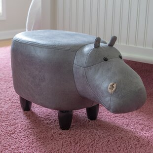 Clements Hippo Kids Stool by Zoomie Kids