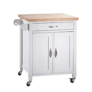 Philomene Contemporary Wood Kitchen Cart by August Grove Reviews
