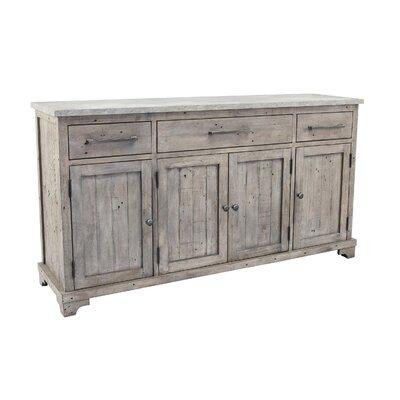 "Rosalind Wheeler Tathana 67"" Wide 3 Drawer Wood Sideboard"