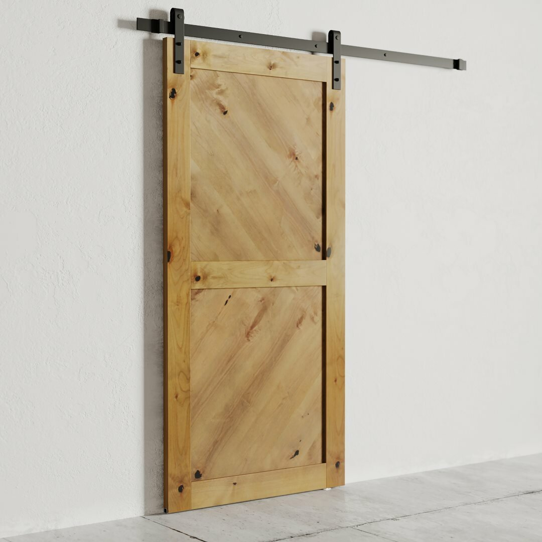 Urban Woodcraft Paneled Wood Finish Barn Door With Installation Hardware Kit Wayfair