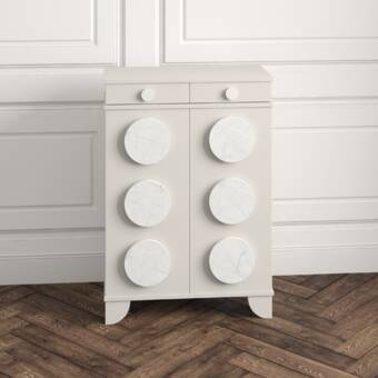 Lexington Carlyle 2 Door Half Circle Accent Cabinet Perigold