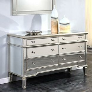 Willa Arlo Interiors Ake 6 Drawer Double Dresser