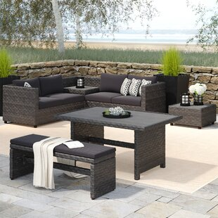 Delicia 5 Piece Sectional Set with Cushions by Beachcrest Home