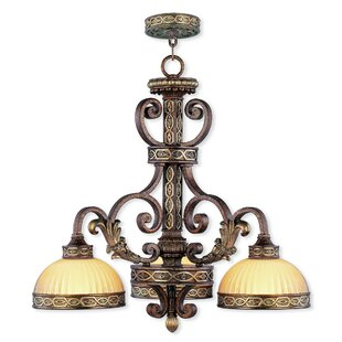 Astoria Grand Schweizer 3-Light Shaded Chandelier