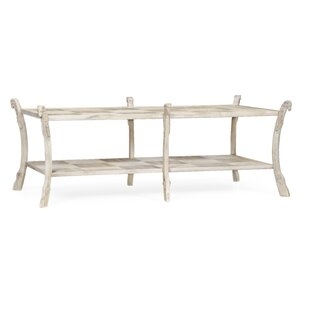 Collana Washed Acacia Coffee Table with Storage