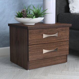 Wrought Studio Hinkson 2 Drawer Nightstand