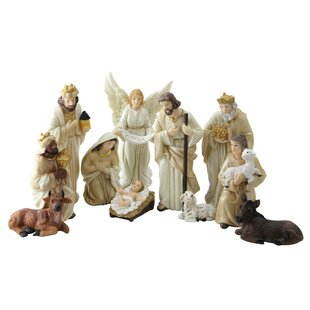 11 piece christmas nativity set with accents