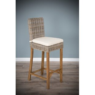Walbridge 112cm Bar Stool With Cushion By Bay Isle Home