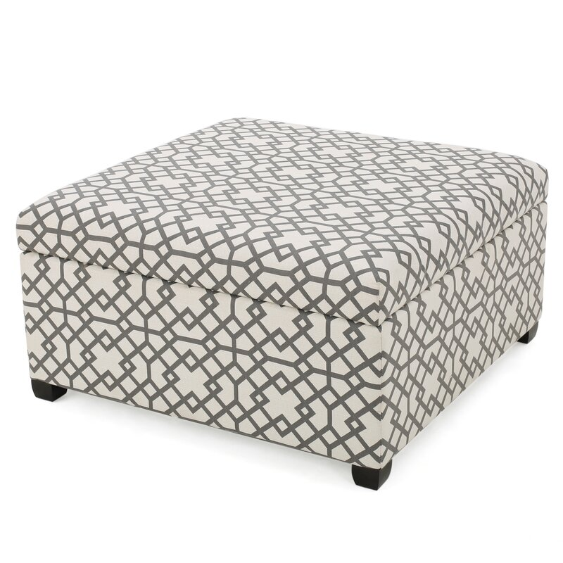 Captivating Trudel Fabric Storage Ottoman