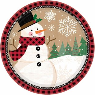 Christmas Winter Wonder Paper Dinner Plate (Set of 72)