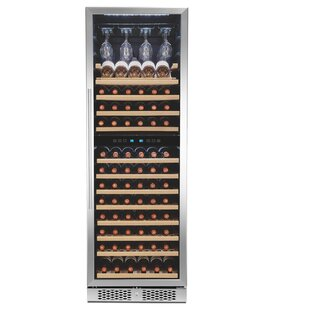 121 Bottle Touch Panel Dual Zone Freestanding Wine Cellar