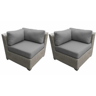 Florence Patio Chair with Cushions (Set of 2)
