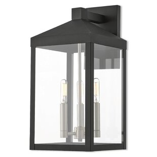 Comparison Demery 3-Light LED Outdoor Wall Lantern By Mercury Row