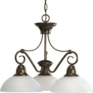 Fleur De Lis Living Adrienne 3-Light Shaded Chandelier