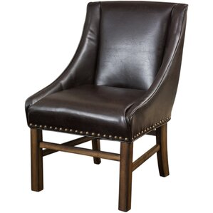 Busch Side Chair in Leather - Brown by Lark Manor