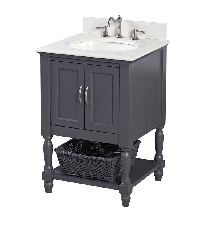 """24 Bathroom Vanity Cabinet With Sink kbc beverly 24"""" single bathroom vanity set & reviews   wayfair"""
