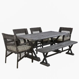 Quedgeley 6 Piece Dining Set with Cushions