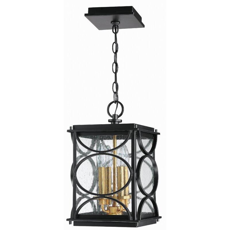 Red Barrel Studio Gold 4 Light Outdoor Hanging Lantern Wayfair