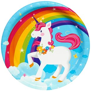 Fairytale Unicorn Party Paper Disposable Dinner Plate